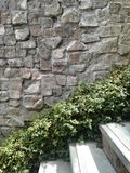 Pared de piedra del modelo ocupado Foto de archivo