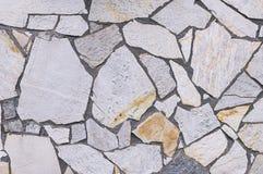 Pared de piedra del mosaico Imagen de archivo
