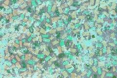 Pared de piedra del mosaico de polígonos multicolores foto de archivo libre de regalías