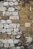 Pared de piedra en Italia foto de archivo