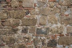 Pared de piedra en Italia imagenes de archivo