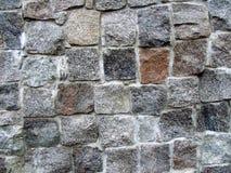 Pared de piedra en parte Imagenes de archivo