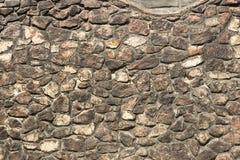 Pared de piedra gótica vieja de los escombros Foto de archivo libre de regalías
