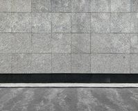 Pared de piedra gris imagen de archivo