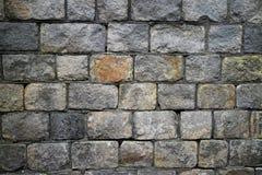 Pared de piedra gris Fotos de archivo