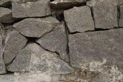 Pared de piedra gris Fotografía de archivo libre de regalías