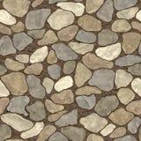 Pared de piedra inconsútil ilustración del vector