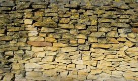 Pared de piedra de la piedra arenisca Fotografía de archivo