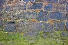 Pared de piedra mojada Fotos de archivo