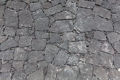 Pared de piedra natural de Gray Canarian Fotos de archivo libres de regalías