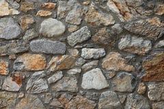 Pared de piedra natural rústica Foto de archivo