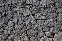 Pared de piedra negra Imagen de archivo