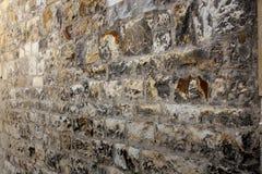 Pared de piedra - para el fondo en castillo de la parte superior de Praga Imagen de archivo libre de regalías