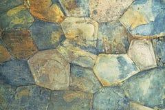 Pared de piedra resistida Imagen de archivo