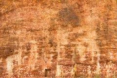 Pared de piedra roja Foto de archivo