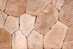 Pared de piedra rosada Imagenes de archivo