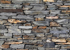 Pared de piedra seca Fotografía de archivo libre de regalías