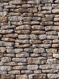 Pared de piedra seca, Córcega, Francia Foto de archivo