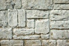 Pared de piedra tallada natural Fotos de archivo
