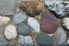 Pared de piedra tallada natural Imagen de archivo