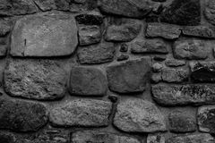 Pared de piedra vieja del monasterio Fotografía de archivo