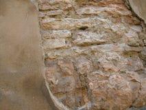 Pared de piedra vieja resistida Fotografía de archivo