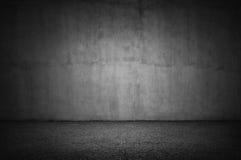 Pared de piedra y piso gris Imagen de archivo libre de regalías