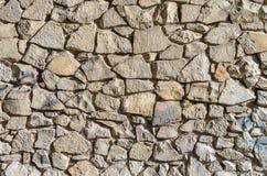 Pared de piedras del diverso tamaño, fondo, serie de la textura Fotografía de archivo