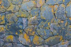 Pared de piedras naturales grandes fotografía de archivo libre de regalías