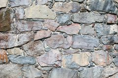 Pared de piedras naturales grandes imagen de archivo libre de regalías