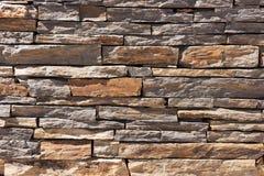 Pared de piedras naturales marrones Imagen de archivo libre de regalías