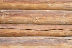 Pared de registros de madera Foto de archivo