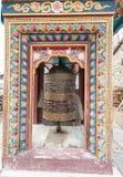 Pared de rogación budista en paisaje en el circuito de Annapurna, emigrando Fotos de archivo libres de regalías