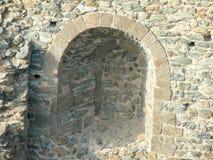 Pared de Sacra di San Micaela, abadía medieval italiana Foto de archivo libre de regalías