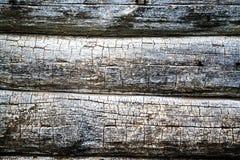 Pared de una pared de la cabaña de madera Imagen de archivo