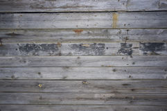 Pared de viejos tableros con los clavos Imagen de archivo libre de regalías