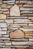 Pared decorativa de la roca Imagen de archivo