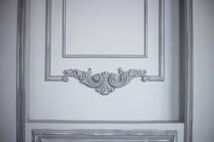 Pared decorativa del fondo con los ornamentos delicados Imagenes de archivo