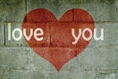 Pared del amor Fotografía de archivo libre de regalías