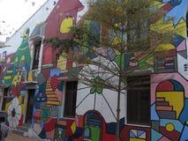Pared del arte en el canal del ` s de Malaca imagen de archivo libre de regalías