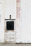 Pared del blanco de la puerta Fotografía de archivo