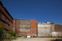 pared del bloque con el ladrillo Fotos de archivo