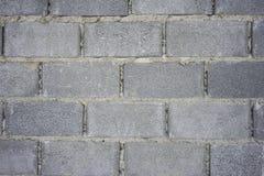 Pared del bloque de cemento Foto de archivo libre de regalías