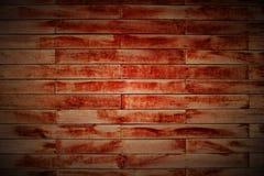 Pared del bloque de madera en Lomo Imagenes de archivo