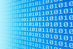 Pared del código binario Imagen de archivo