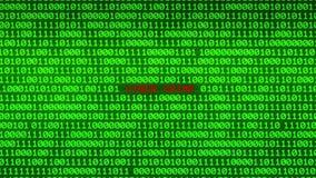 Pared del código binario verde que revela el fondo CIBERNÉTICO de la matriz de los datos del CRIMEN