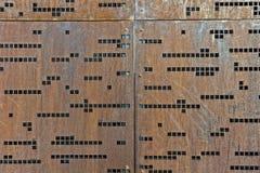 Pared del código Morse imágenes de archivo libres de regalías