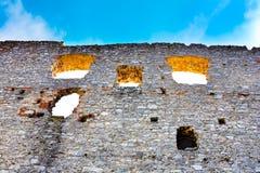 Pared del castillo Imagen de archivo libre de regalías
