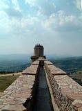 Pared del castillo de Assisi Imagen de archivo libre de regalías