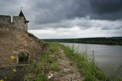 Pared del castillo de Khotyn Imágenes de archivo libres de regalías